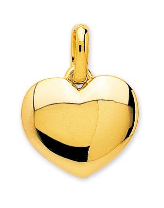 Pendentif coeur plaqué or + chaîne assortie 106227