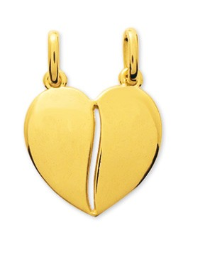 Pendentif coeur plaqué or + chaîne assortie 106275