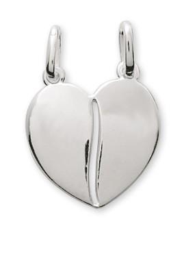 Pendentif coeur argent + chaîne assortie 206275