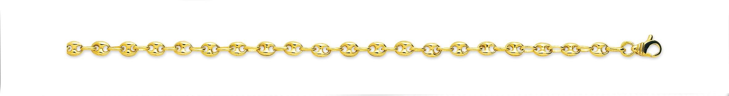 bijoux or-chaine grains de café or 2366
