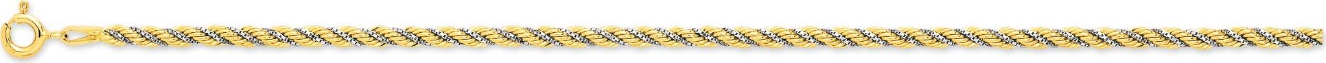 bijoux-or bracelet maille corde 2474.3