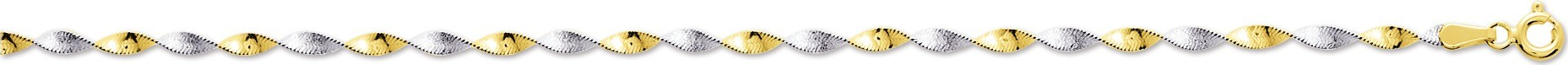 bijoux or-collier or bicolore  592.2G