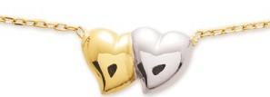 Collier et pendentif coeurs en or 7680G