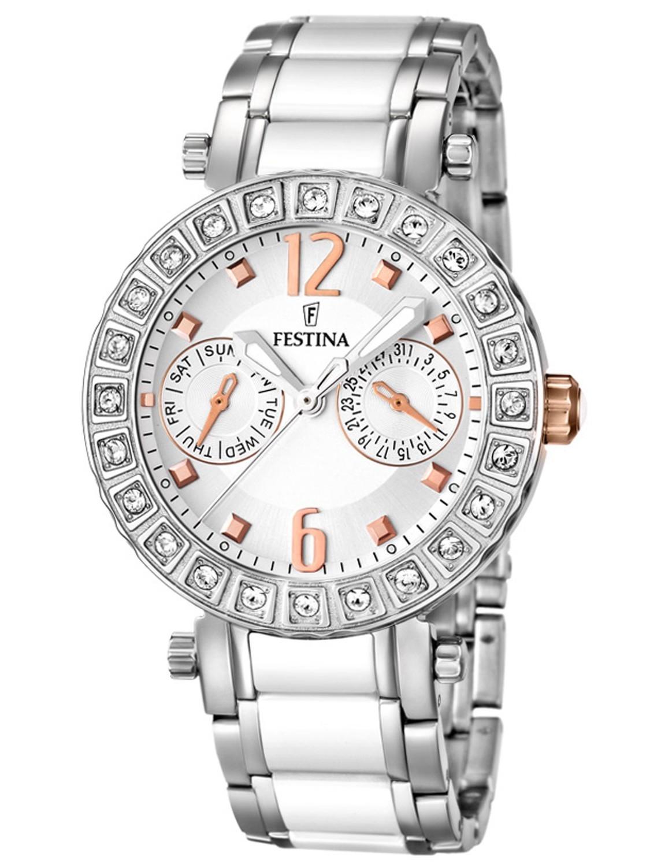 les mieux notés dernier vente en magasin mignon pas cher F16587-2 FESTINA montre femme noire .