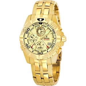 FESTINA Gold : F16119-4. Métal doré, pour homme.