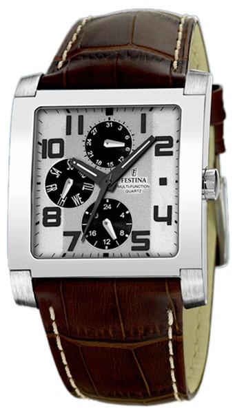 festina-montre multifonction cuir F16235-2