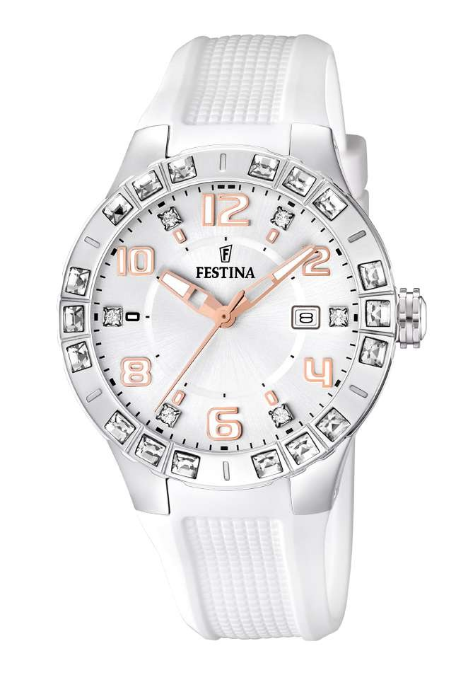 FESTINA Dream Team F16560-1, Montre femme en silicone blanc.
