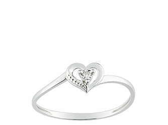 Christian Bernard-bague coeur diamant or blanc QLB41GB5