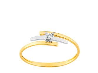 Bague en or bicolore et diamant QNB32BB4