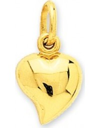 Pendentif coeur or 18 carats + chaîne assortie 2820
