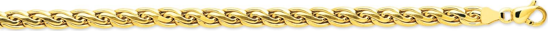 bijoux-or bracelet or maille fantaisie 2406