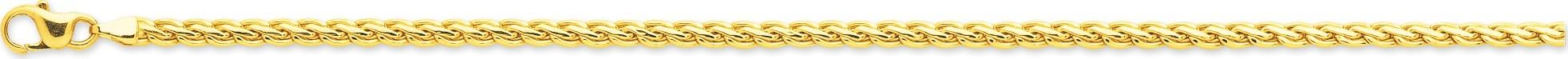 bijoux or bracelet maille fantaisie 2438