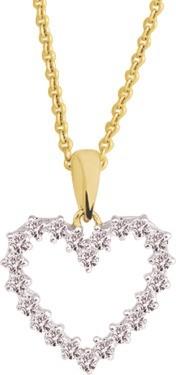 Collier or et pendentif coeur diamant