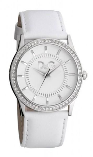 D&G montre femme en cuir blanc DW0518