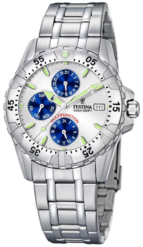 festina-montre multifonction acier F16059-2