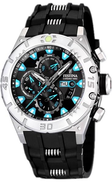 Festina chronographe acier et résine F16528-5