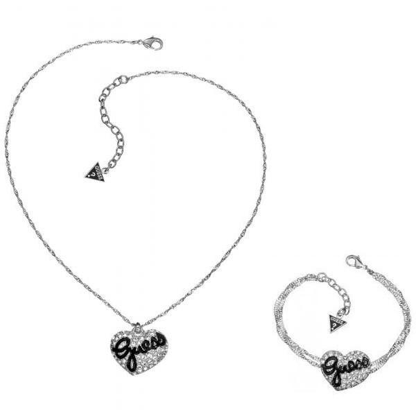 Guess Parure collier + bracelet Modèle UBB81101