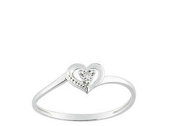 Christian Bernard-bague coeur diamant or blanc QLB41GB5