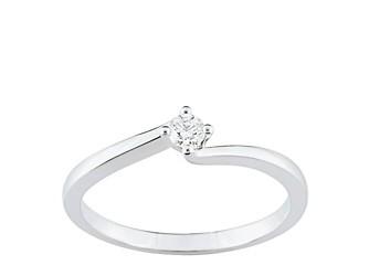 Bague solitaire diamant et or blanc QNB24GB4