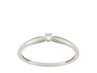 Christian Bernard-bague diamant or blanc QT011GB5