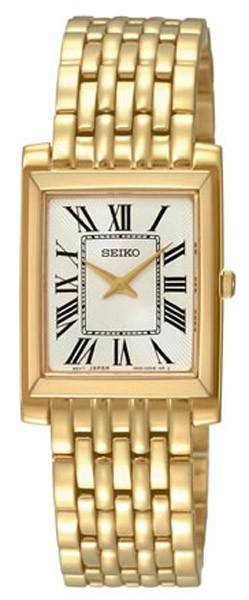 SEIKO montre femme classique plaqué or SUJG22